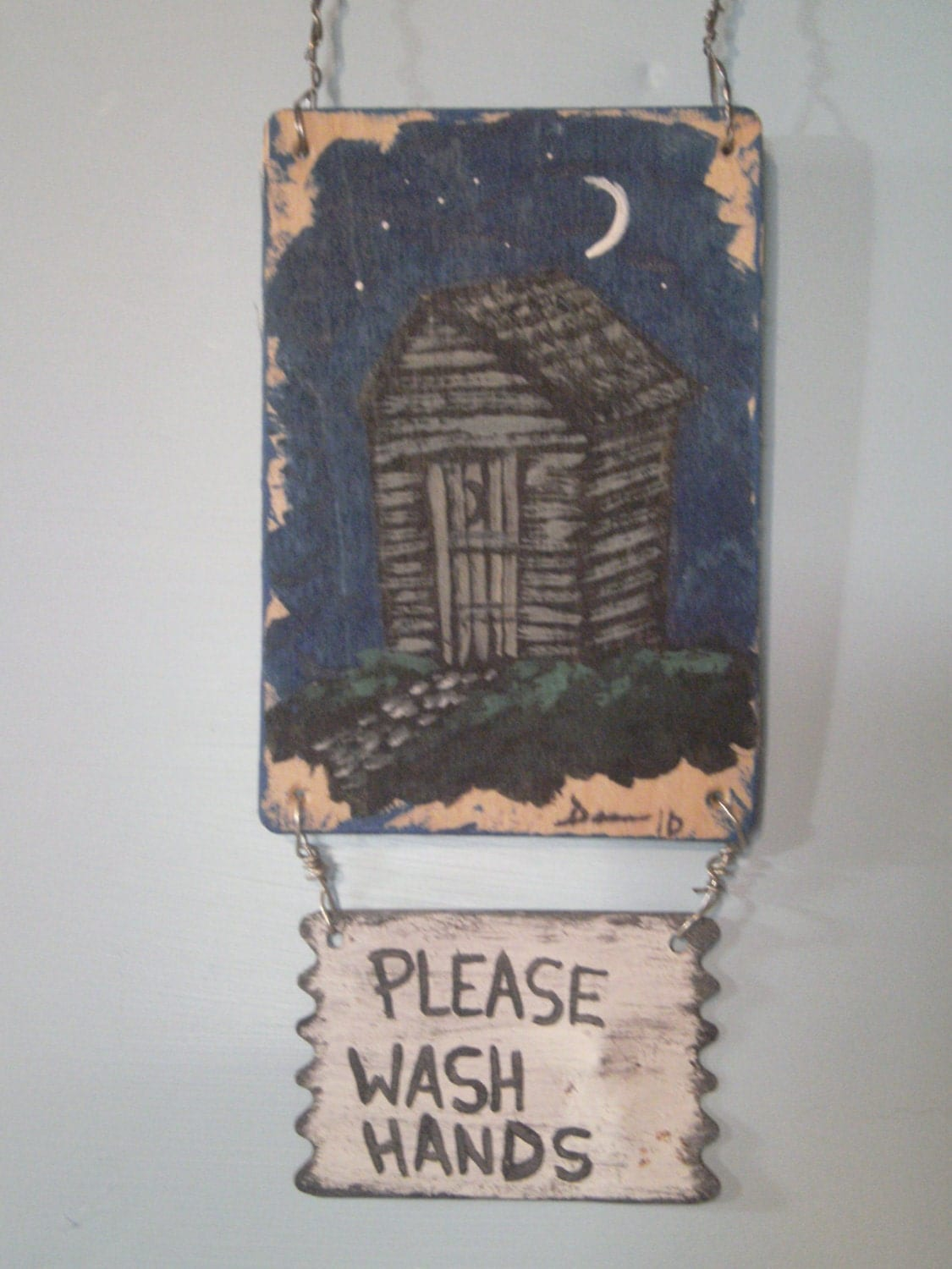 Outhouse Wall Hanging Bathroom Decor by DemmersArt on Etsy