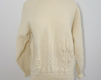 SALE In the Woods Cream Sweater with Trees