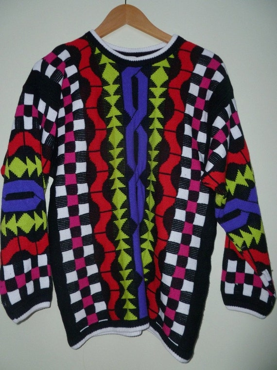 FUGLY Colourful 80s Sweater