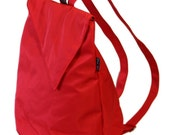 Sidney -a comfortable stylish light weight vegan RED Backpack Valentain's day gift- Made to order.