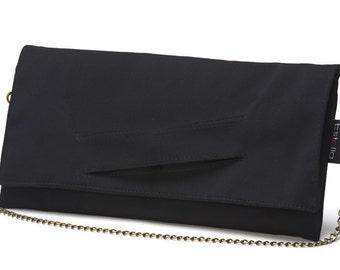 SUMMER SALE-A black vegan clutch - ready to ship.