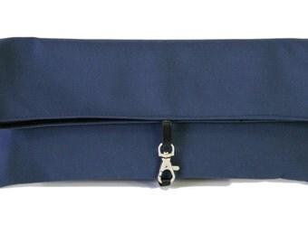 BLUE vegan wristlet case, MAKEUP case and bag organizer - Cruelty Free -