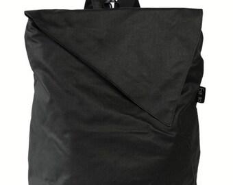 Vegan BLACK Backpack, Laptop 15 backpack, lap top bag, vegan bag - Sidney-Made to order