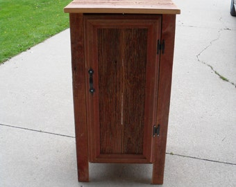 Red Small Square Cabinet