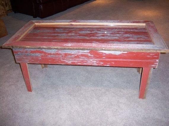 Rustic Barn Board Coffee Table By TheFallBasket On Etsy