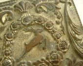 vintage Silver Leaping Gazelle Jewelry Casket Box