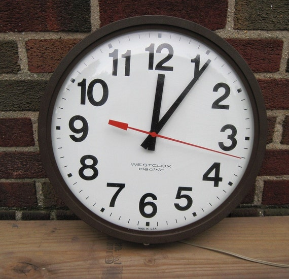 Hold For Inthebhag Old Industrial School House Wall Clock