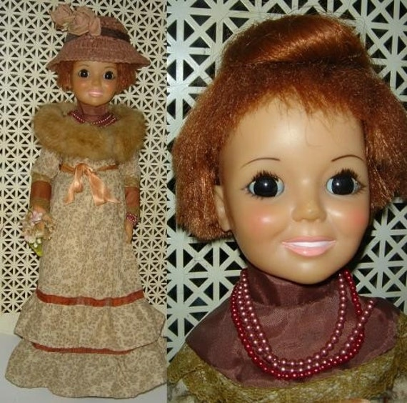 vintage 1968 CRISSY DOLL in a Gunne Sax Prairie Dress