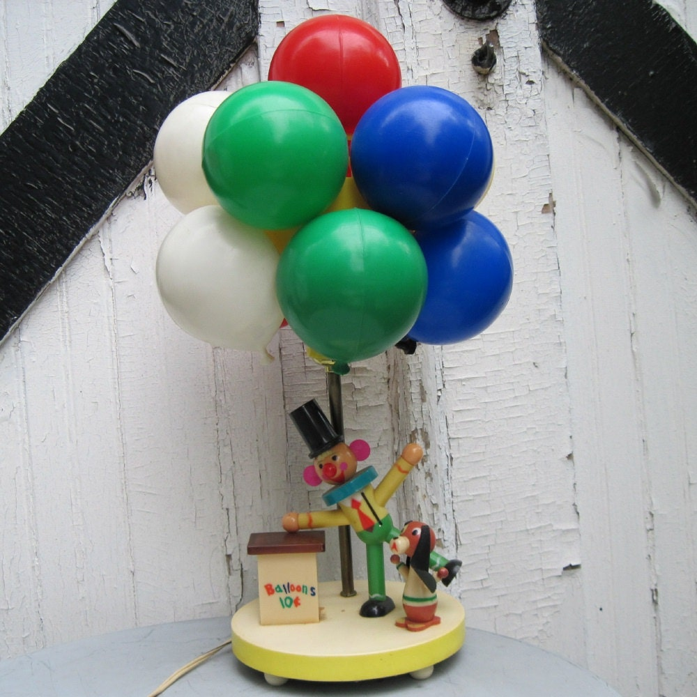 vintage clown balloon lamp bing images. Black Bedroom Furniture Sets. Home Design Ideas