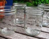 Lot of (4) Vintage KERR Mason Jars Wide Mouth Pint