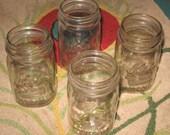 Lot of (4) Vintage KERR Mason Jars Pint Standard Size