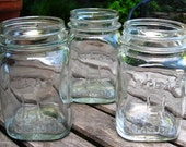 Lot of (3) Vintage ATLAS Mason Jars PINT Standard Size