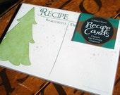 Christmas Recipe Card Set - A Baker's Dozen - Snowy Winter Scene - 4x6 - Ready to Ship
