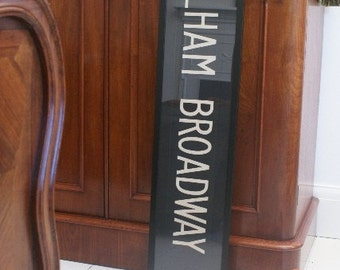 Vintage London Bus Blind - FULHAM BROADWAY
