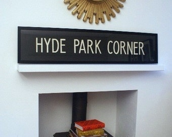 Vintage London Bus Blind - HYDE PARK CORNER