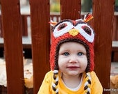 Wide Awake Owl Hat- Instant Download Crochet Pattern