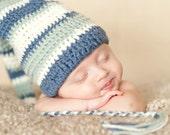 Crochet Pattern, Stockign Cap, Pattern for photo prop or newborn babies - Instant Download Crochet Pattern