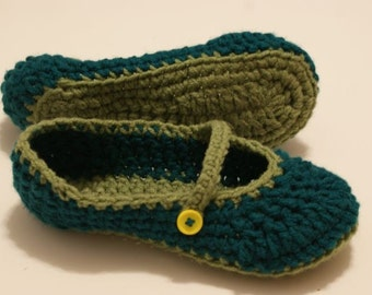 Funky Crocheted Slippers - Free shipping in the US