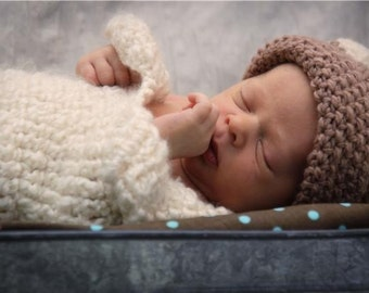 Newborn Baby Cocoon in Pearl