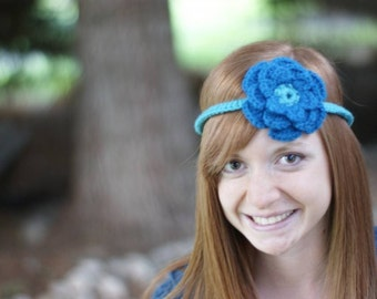 Juliet headband in Teal and Royal Blue
