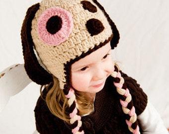 Crochet Pattern, Dog Hat, Puppy Hat