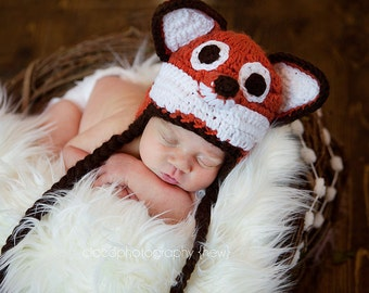 Instant Download Crochet Pattern - Sly Fox Hat