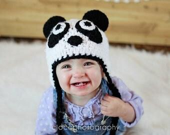 Panda Bear Hat - Instant Download Crochet Pattern