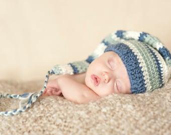 Crochet Pattern, Stocking Cap,  Mr Sandman Pattern for photo prop or newborn babies