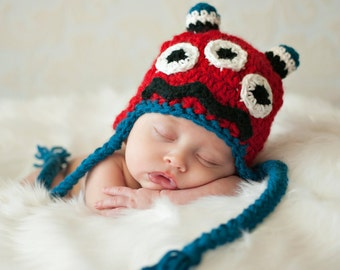 Monster Mash Hat Crochet Pattern - Instant Download Crochet Pattern