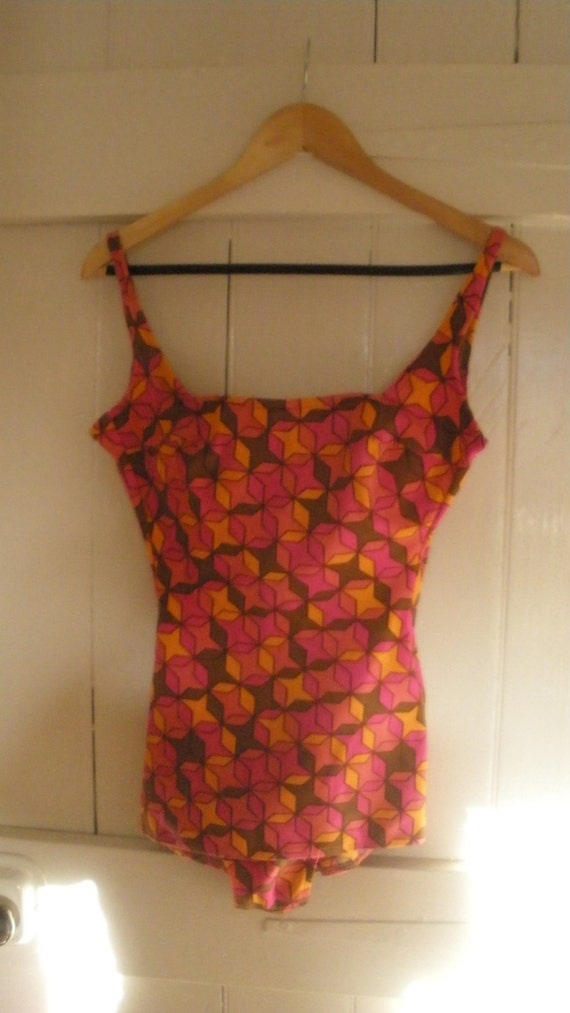 1960s - 1970s Groovy Swimsuit by Genevieve  - Made in Australia