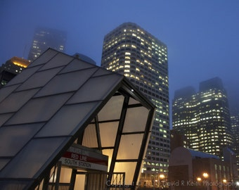 Foggy Night Outside South Station
