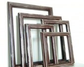 Rustic Chic Wall Frame Collection with GLASS in Dark Brown Picture Frames Photo Frames Set