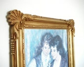 Baroque Ornate Frame Vintage EXTRA large Frame Syroco 1970s Gold Antique Frame
