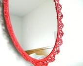 Perfume Tray Vintage Mirror Vanity Tray Cherry Red Wall Mirror Decorative Mirrors