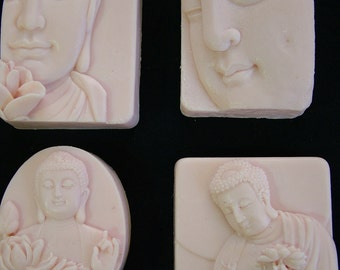 The Zen Buddha Collection Set of 4 Handmade Glycerin Soap Assortments