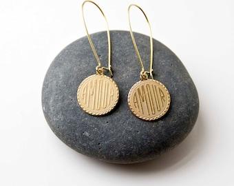 Raw Brass Amour Earrings