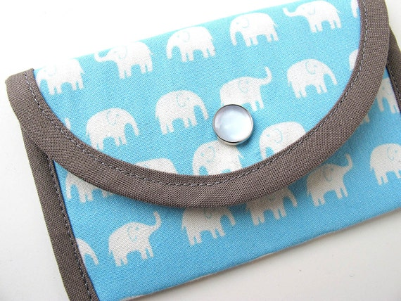 Blue Elephants Business Card/Credit Card Case