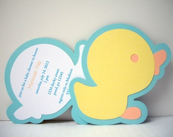 Rubber Ducky Invitation - Pack of 10