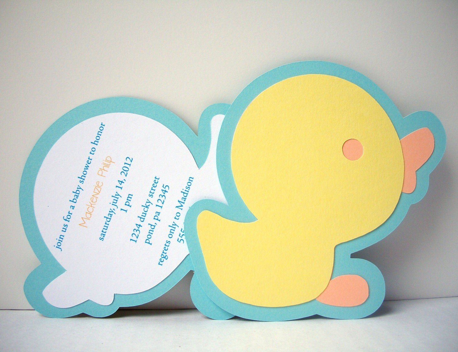 Rubber Ducky Invitation Pack of 10