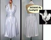 Custom DRess listing for Kalinda White Marilyn Monroe Bombshell Halter Evening Dress Deposit One