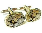 Cuff links Steampunk cufflinks Gruen wedding cufflinks groom cufflinks best man mens jewelry men fashion