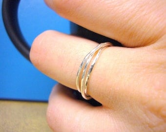 Sterling silver ring sterling silver rolling ring interlocking rings sterling silver ring set