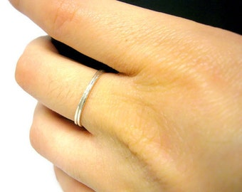 Sterling silver ring Sterling silver stacking rings, sterling stacking rings - super skinny stackable rings Silver jewelry
