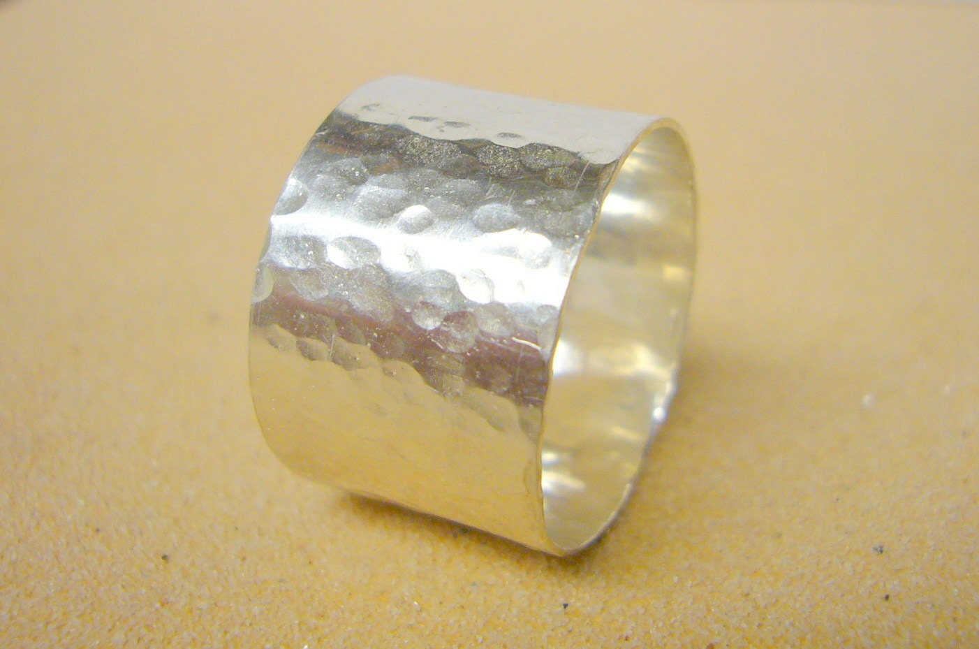 sterling silver wide band ring sterling silver ring hammered