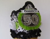 50th Birthday Crown / Hat or any number- customize with name