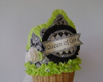 Birthday Party Crown, birthday party crown, party hat, party crown, QUEEN OF CANDLES or customize