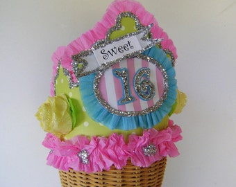 SWEET 16 Birthday Hat, Sweet 16 Birthday Crown - 16th Birthday customize with any number
