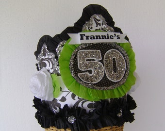 50th Birthday Party Crown, 50th Birthday hat , Adult Birthday hat, Girl birthday hat, customize