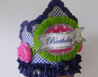 Birthday Party Crown, Birthday Hat  BIRTHDAY GIRL or customize - Adult or Child