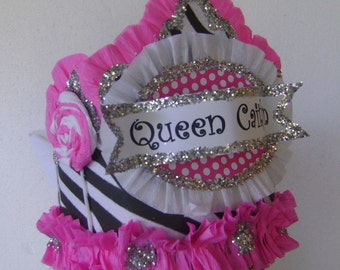 Birthday party hat, birthday party crown, lollipop birthday hat, zebra birthday party hat